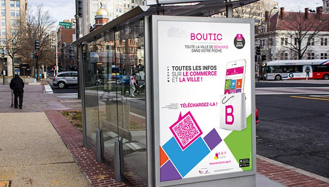 Boutic campagne de communication Abribus