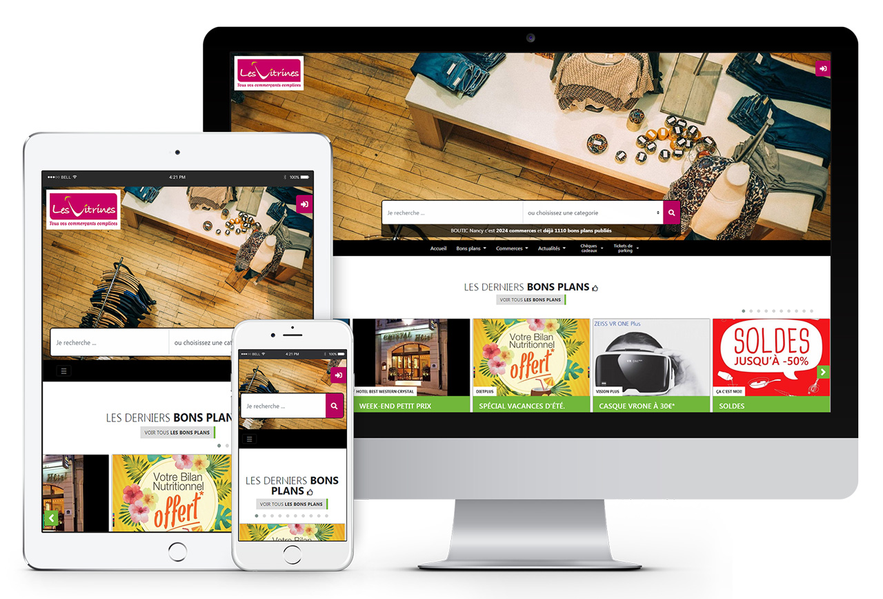 Boutic site Internet responsive design