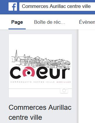 Commerces Aurillac - sa page Facebook